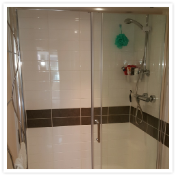 replacing an old damaged shower screen for new